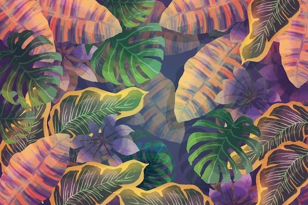 Fondo de hojas tropicales