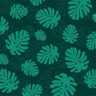 Fondo de hojas de verano tropical.