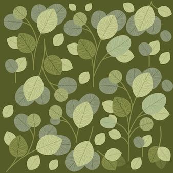 Fondo de hojas verdes