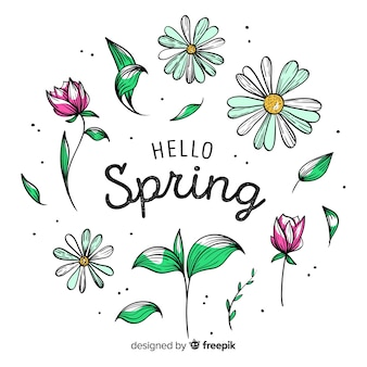 Fondo hola primavera