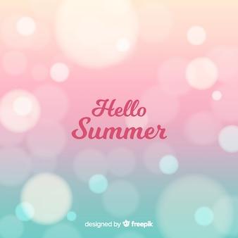 Fondo hola verano borroso colorido