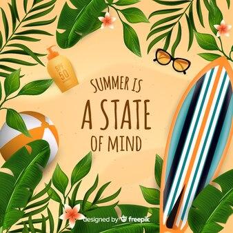 Fondo hola verano realista