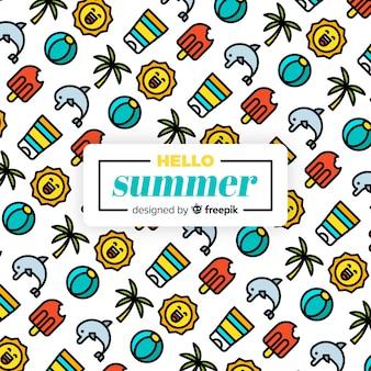 Fondo de hola verano
