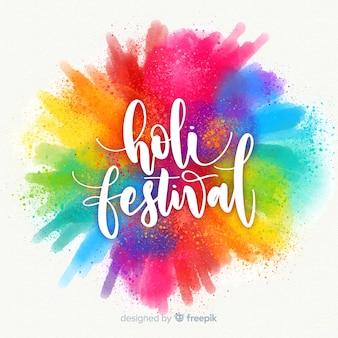Fondo de holi festival en acuarela