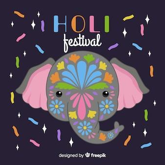 Fondo de holi festival dibujado a mano