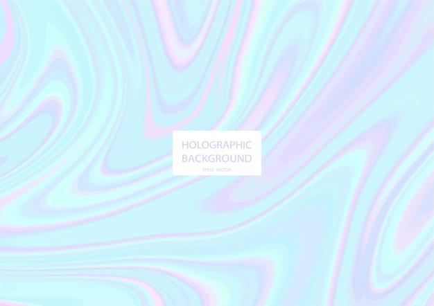 Fondo holográfico abstracto con colores pastel.