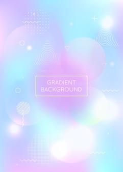 Fondo holográfico con formas líquidas, gradiente dinámico de bauhaus