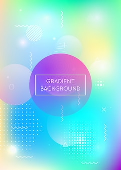 Fondo holográfico con formas líquidas. gradiente dinámico
