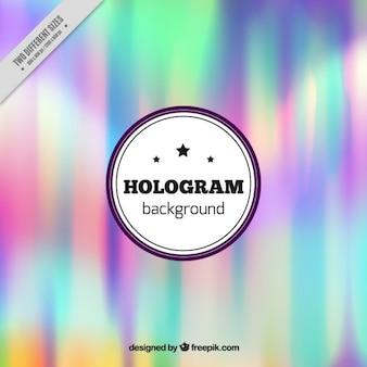 Fondo de holograma de colores