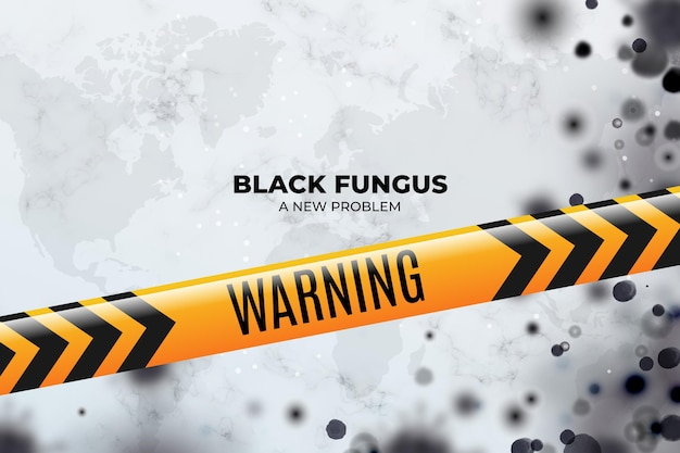 Fondo de hongo negro realista