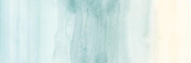 Fondo horizontal abstracto degradado vintage creativo con manchas de acuarela pintadas a mano.