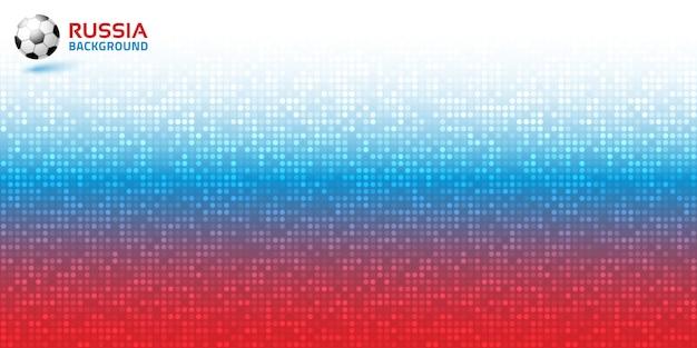 Fondo horizontal azul rojo digital pixel degradado. colores de la bandera de rusia. vector.