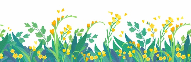 Fondo horizontal floral amarillo flores de primavera
