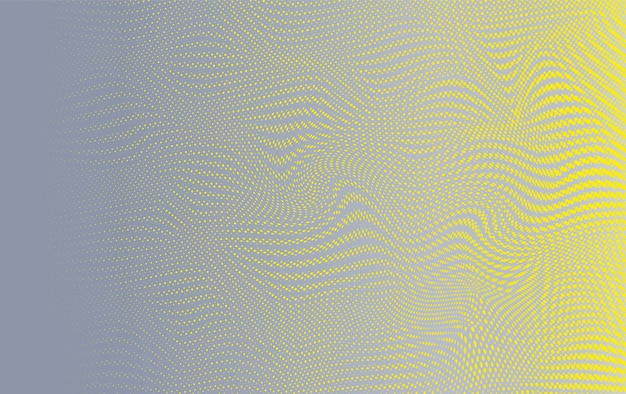Fondo horizontal de puntos de semitono colorido abstracto