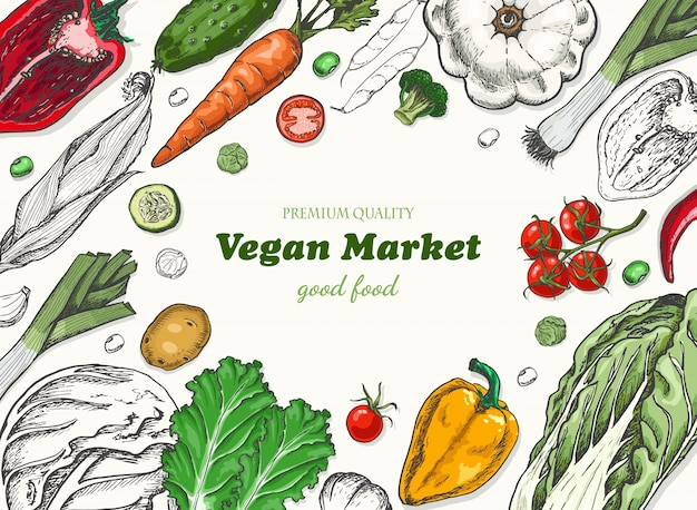 Fondo horizontal con verduras.