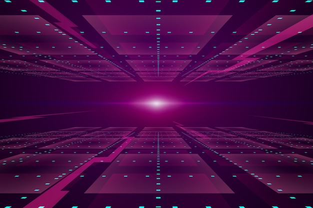 Fondo de horizonte futurista rosa