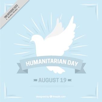 Fondo humanitario con símbolo de la paz