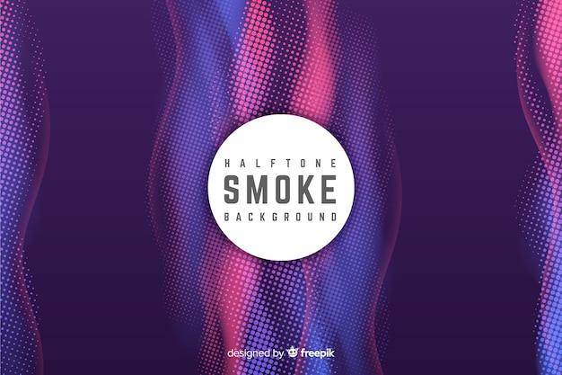 Fondo de humo colorido con efecto halftone