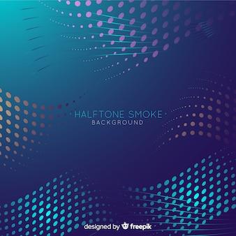 Fondo de humo con efecto halftone colorido