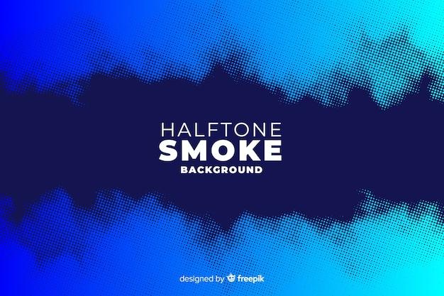 Fondo de humo con efecto halftone