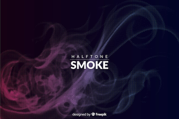 Fondo humo halftone oscuro