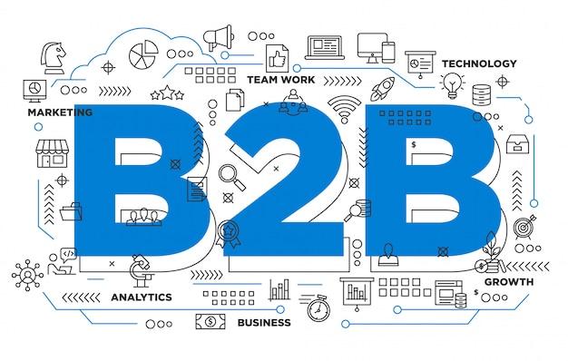 Fondo icónico de negocio a negocio b2b