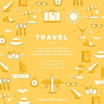 Fondo de iconos de viaje
