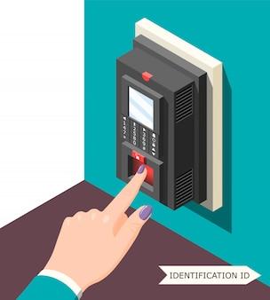 Fondo de identificación biométrica