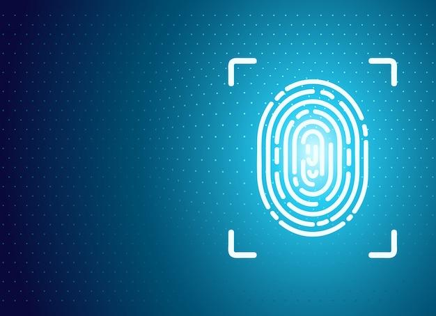Fondo de identificación de huella digital