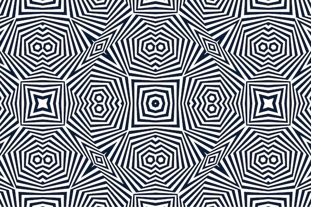 Fondo de ilusión óptica en blanco y negro