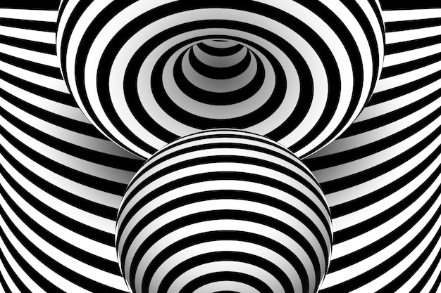 Fondo de ilusión óptica psicodélica