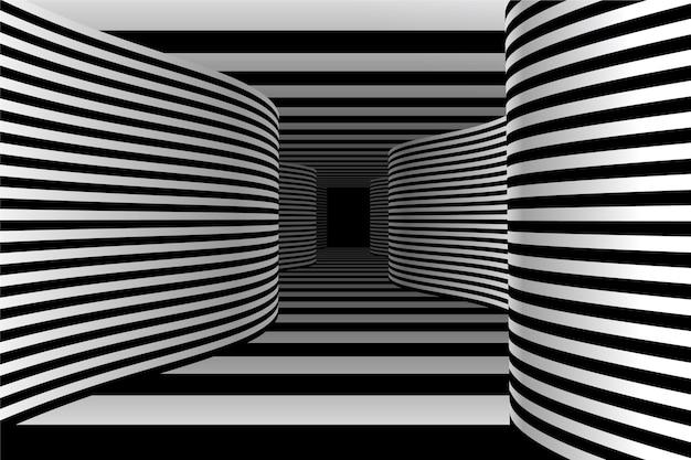 Fondo de ilusión óptica realista