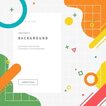 Fondo de ilustración abstracta con formas geométricas inspiradas en el estilo de memphis