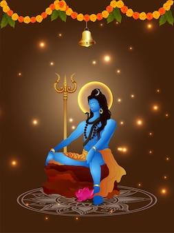 Fondo de ilustración de maha shivratri
