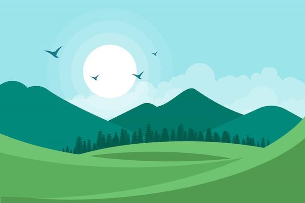 Fondo de ilustración de vector de paisaje