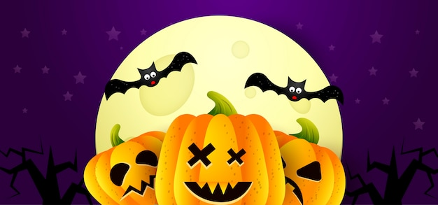 Fondo de ilustración vectorial halloween