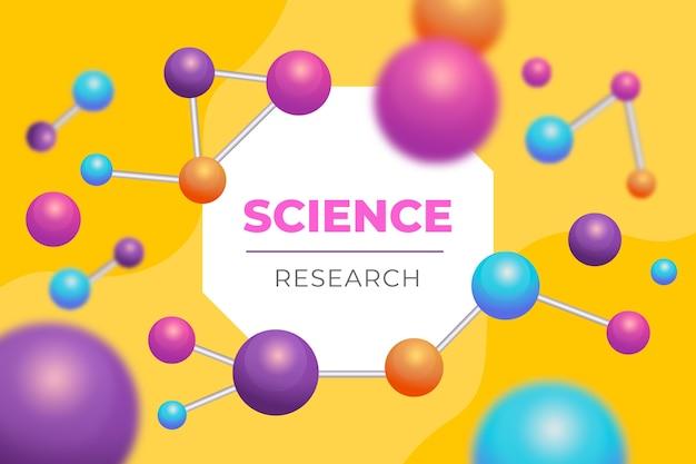 Fondo ilustrado de moléculas realistas