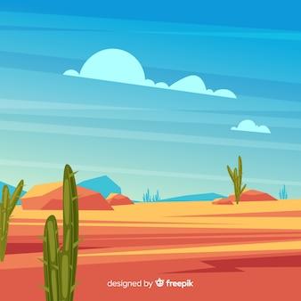 Fondo ilustrado del paisaje del desierto