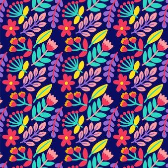 Fondo de impresión floral ditsy colorido