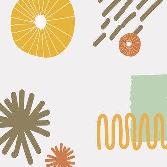 Fondo de impresión moderno escandinavo en colores coloridos