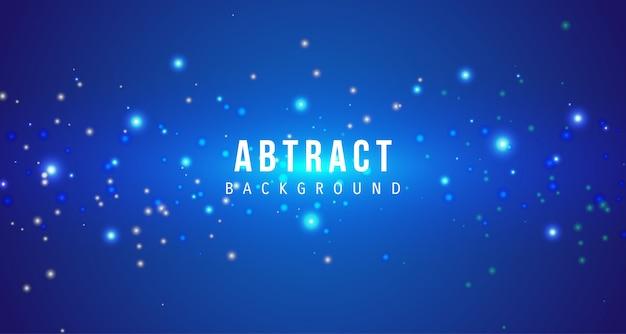 Fondo impresionante de partículas azules