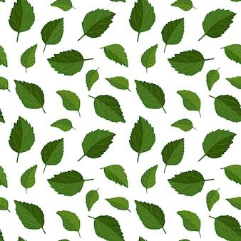 Fondo inconsútil hermoso del estampado de flores fondo de hojas verdes.