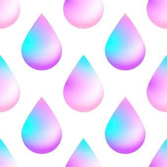 El fondo inconsútil del vector olográfico con color de neón olográfico cae.