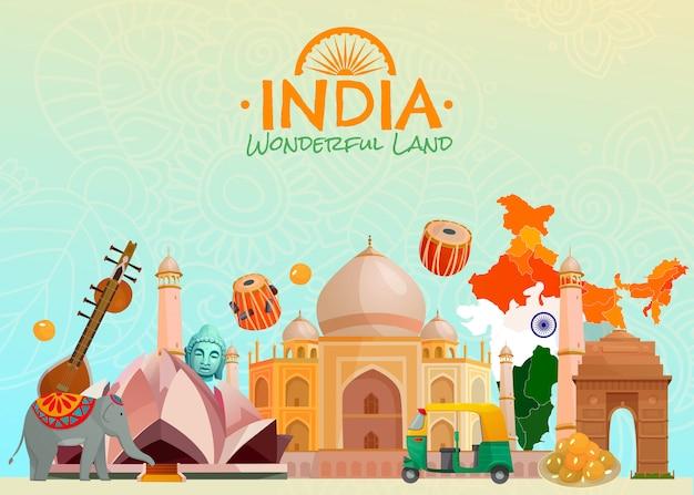 Fondo de la india