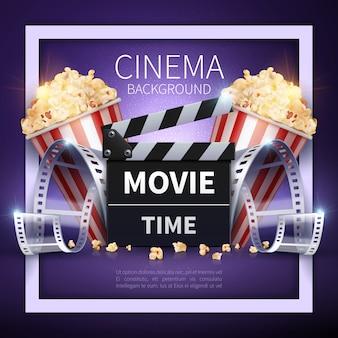 Fondo de la industria del cine y el entretenimiento en línea