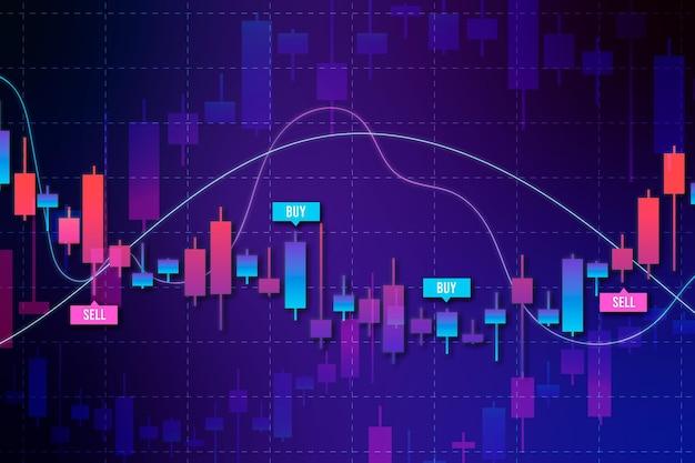 Fondo de infografía de comercio de divisas