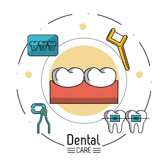 Fondo de infografía de cuidado dental