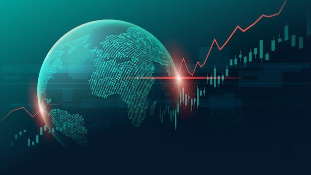 Fondo de infografía global