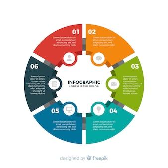 Fondo infografía plana colorida