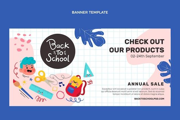 Fondo de insignias de regreso a la escuela